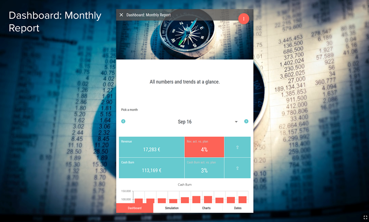 Monthly Report Branded Dashboard