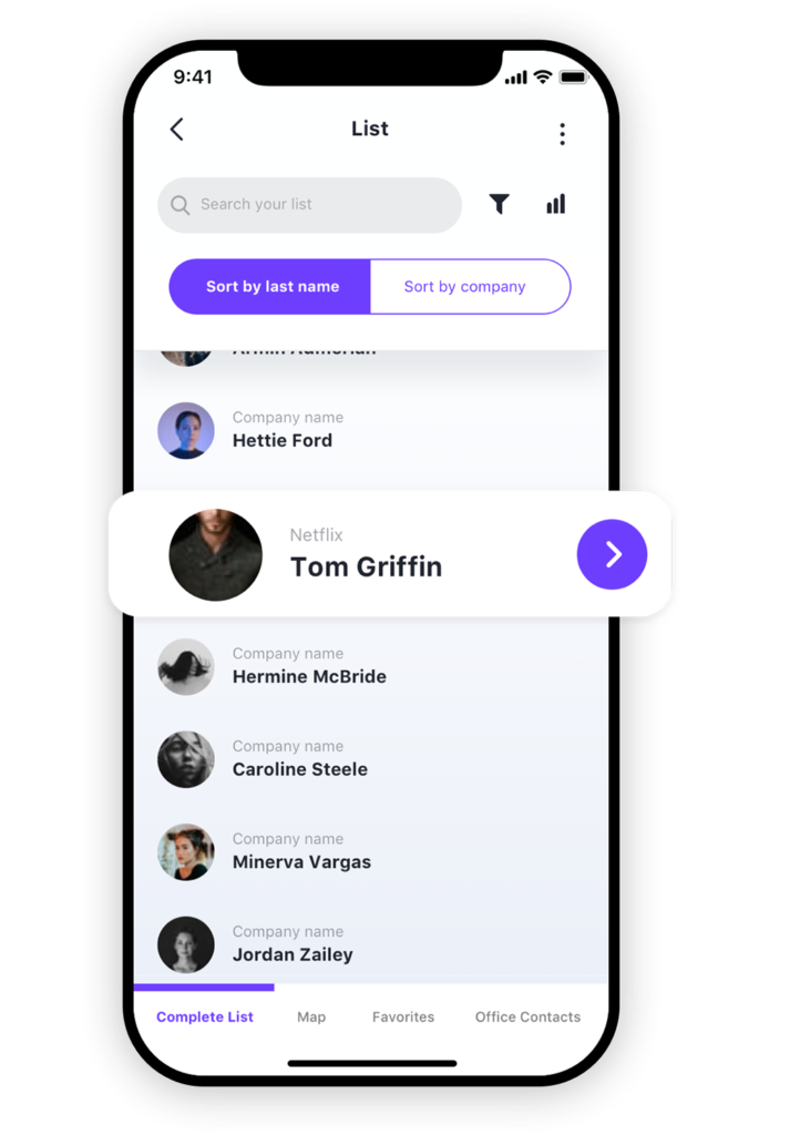 Custom mobile app design for list apps