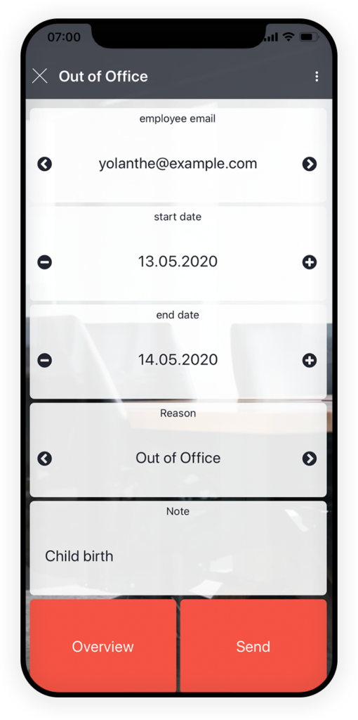 Out of Office App 1